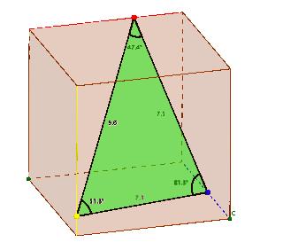 DreieckImWuerfel